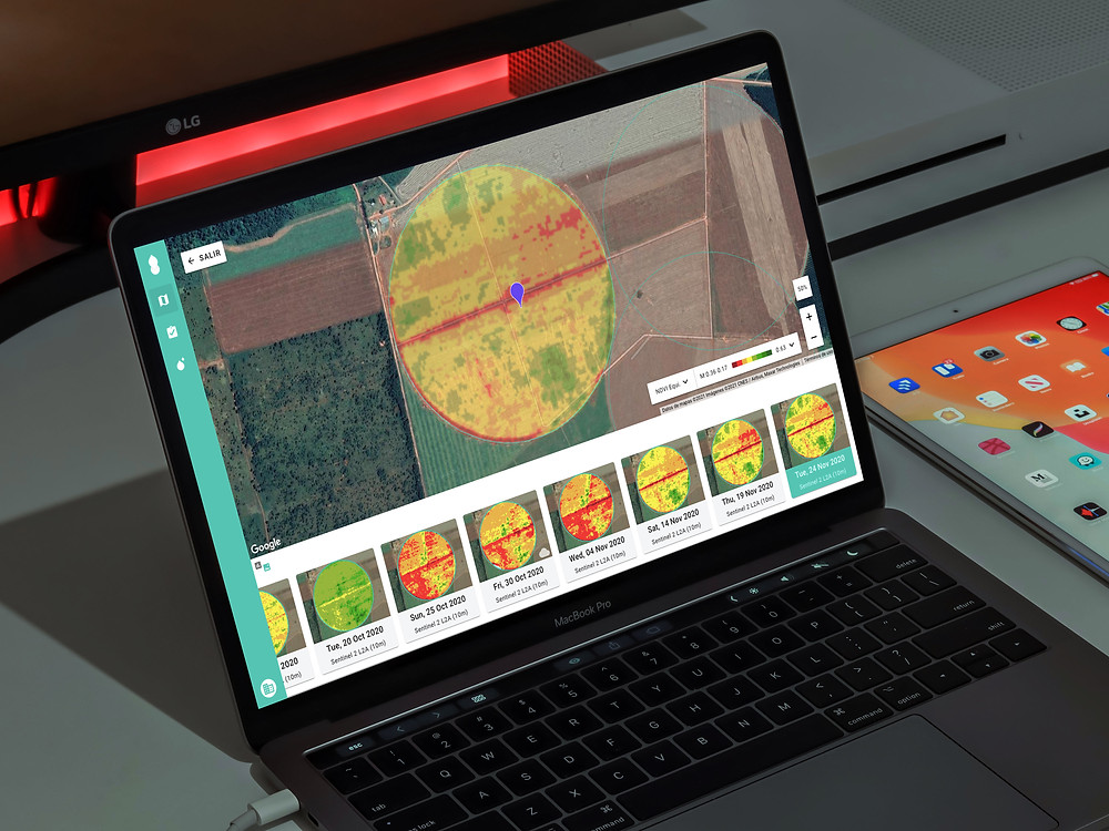 mapas NDVI en agricultura paraguay