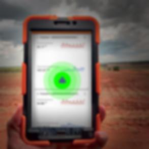 tablet agricultura alerta de campo riego agua faltante hídrico