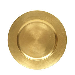 Gold Resin Charger Plate