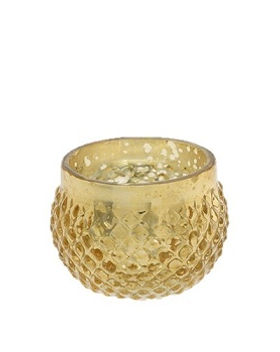 Gold Array Mercury Glass Votive