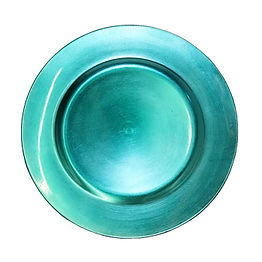 Teal Resin Charger Plate