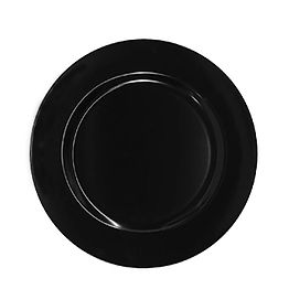 Black Resin Charger Plate