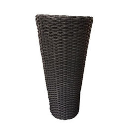 Grey Wicker Planter