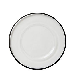 Black Rim Glass Charger Plate