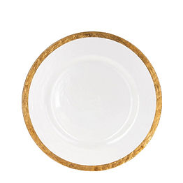 Gold Rim Glass Charger Plate