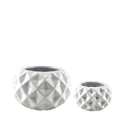 White Ceramic Diamond Point Pot
