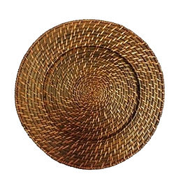 Brown Woven Bamboo Charger Plate
