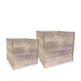Whitewashed Wood Box