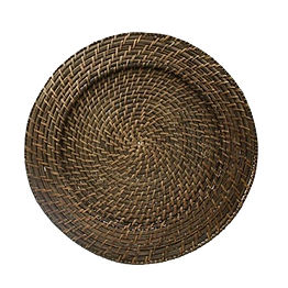 Dark Brown Woven Bamboo Charger Plate