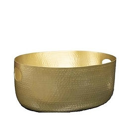 Gold Metal Ice Bucket