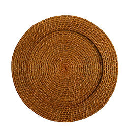 Honey Woven Bamboo Charger Plate