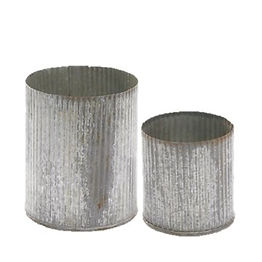 Ribbed Metal Container