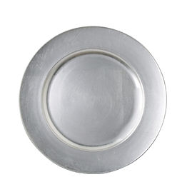 Silver Resin Charger Plate