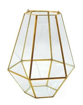 Gold Geometric Terrarium