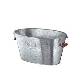 Galvanized Ice Tub with Handles