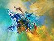 """Rêves, 16""""x20"""", acrylique sur toile"""