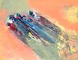 """Confinement, 14""""x18"""", acrylique sur toile"""