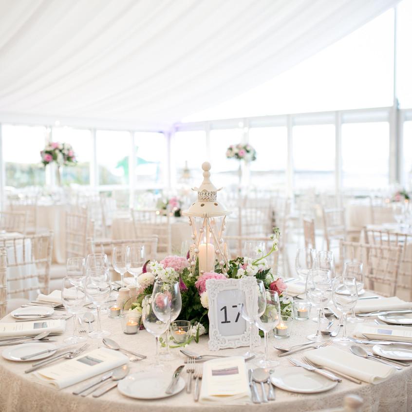 Marquee Wedding, Kilkee Jo's Flower Shop