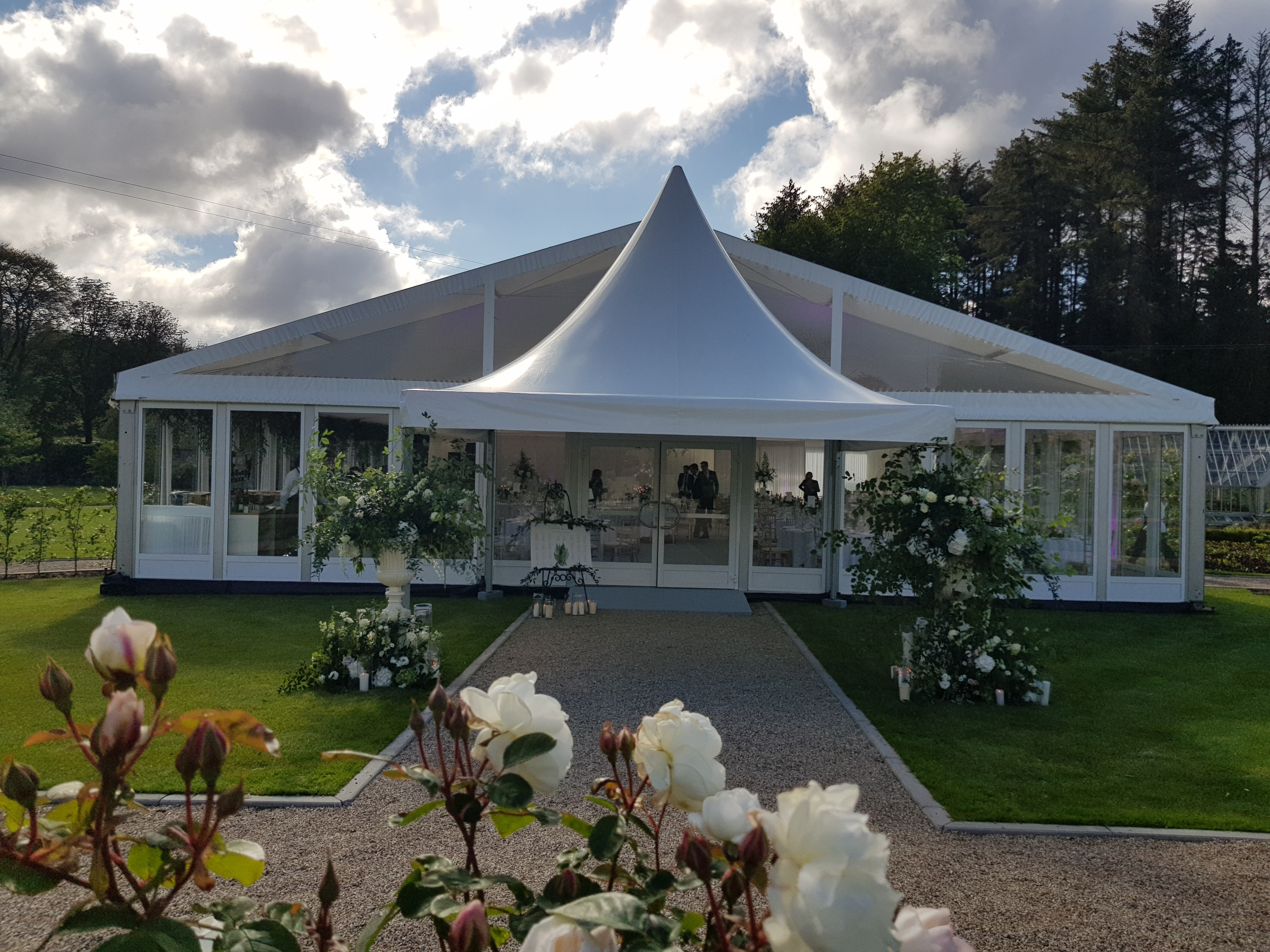 Pagoda glass marquee