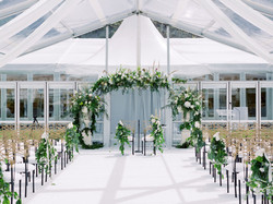 Clear marquee cerermony