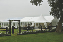 Part lined, part clear marquee