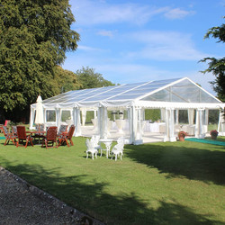 Open sides clear marquee