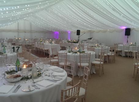 Fairy Lights Wedding Marquee