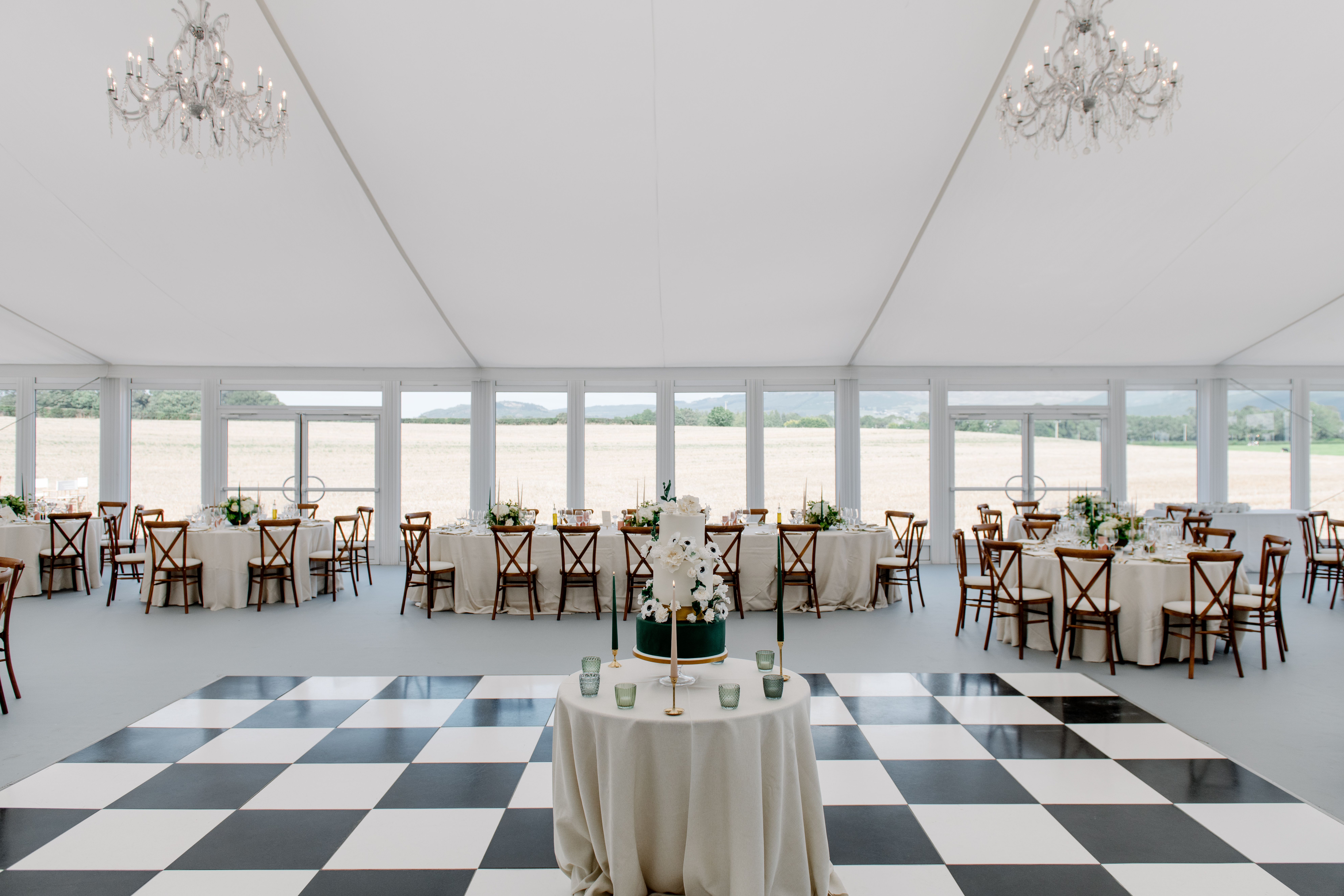 Wedding marquee luxury