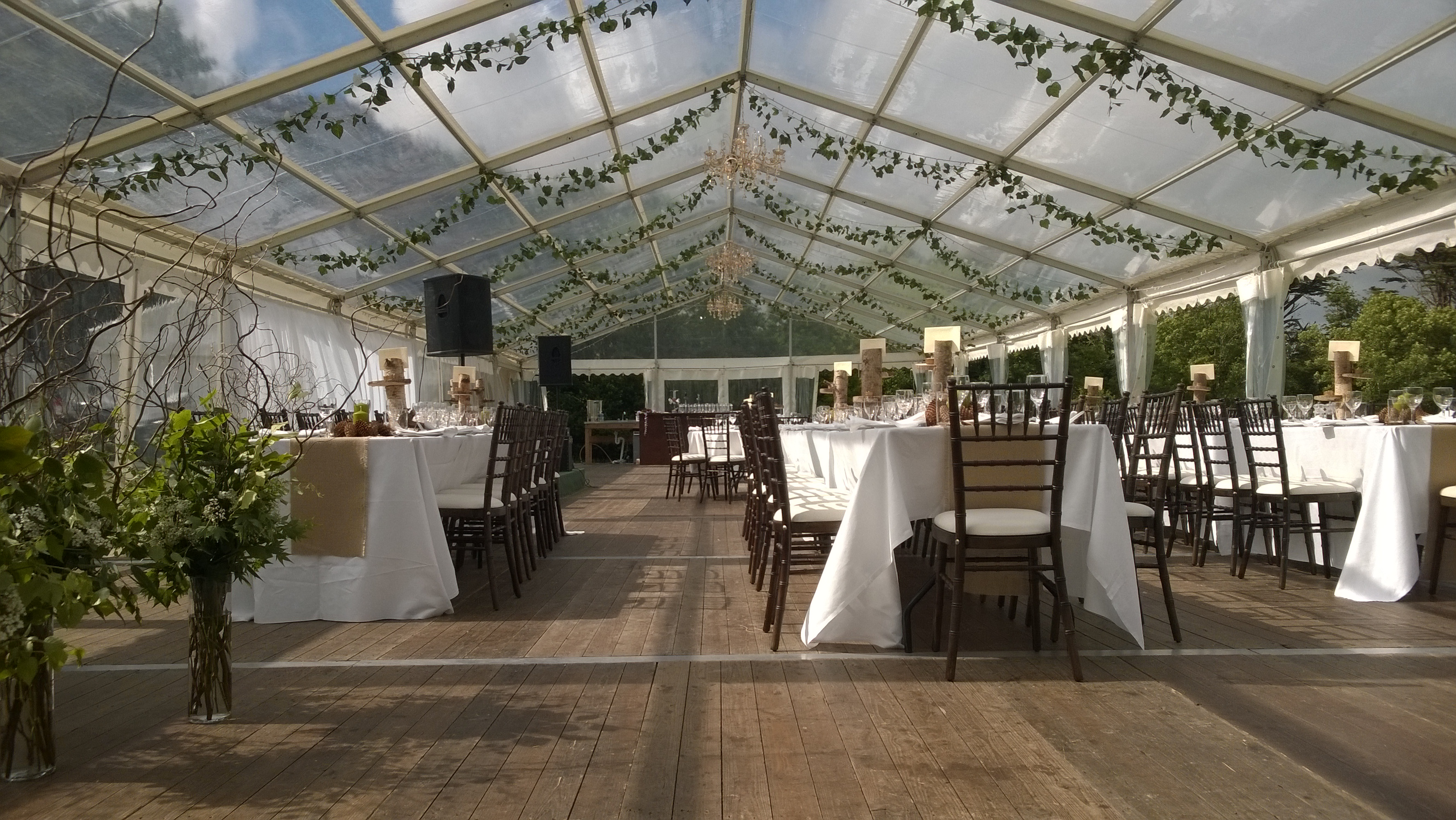 Clear marquee small wedding