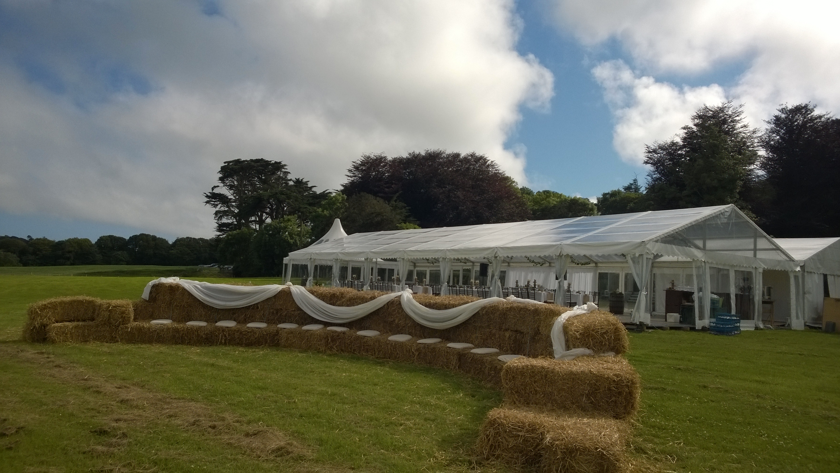 Outdoor wedding marquee