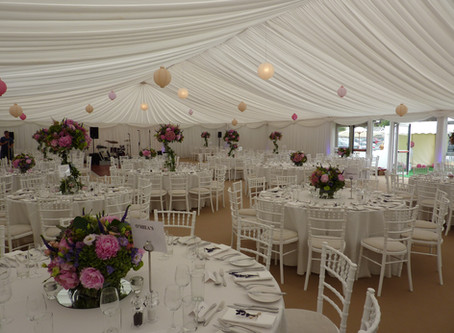 A 'Passion for Flowers' Wedding Marquee