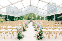 Wedding marquee clear no sides