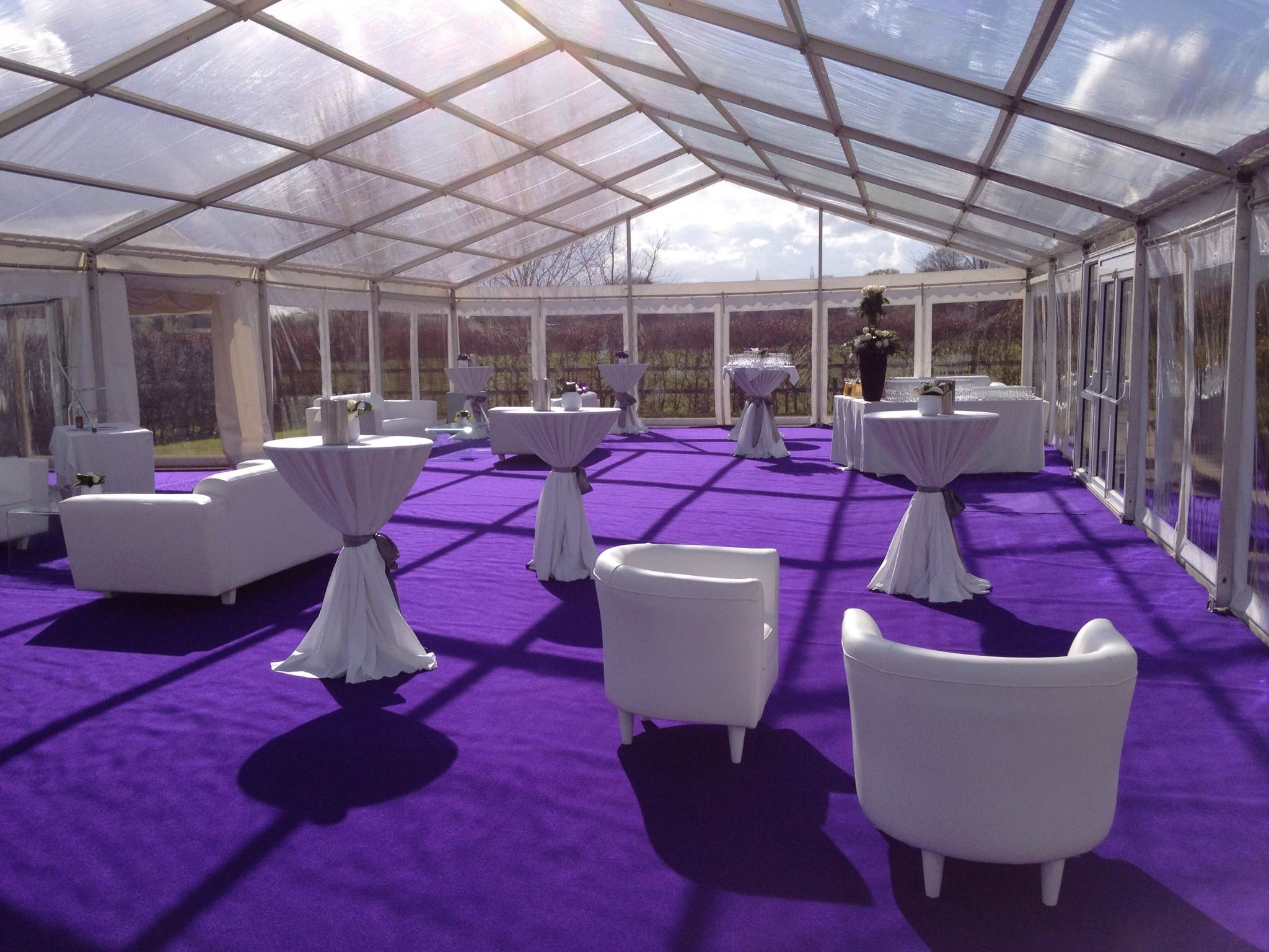 Purple Lounge Marquee