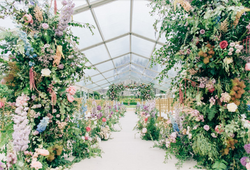 Clear marquee flowers