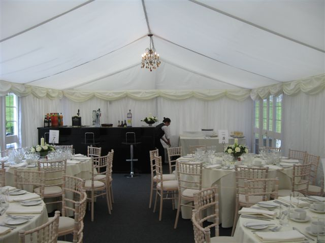 6M lined marquee