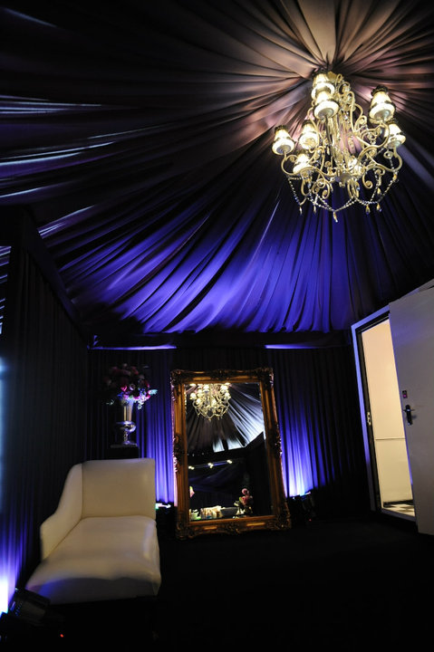 Satin Marquee for Luxury Toilets