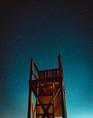 STARS OVER SANDY BEACH