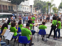 Orquestra na  Praça Tiradentes