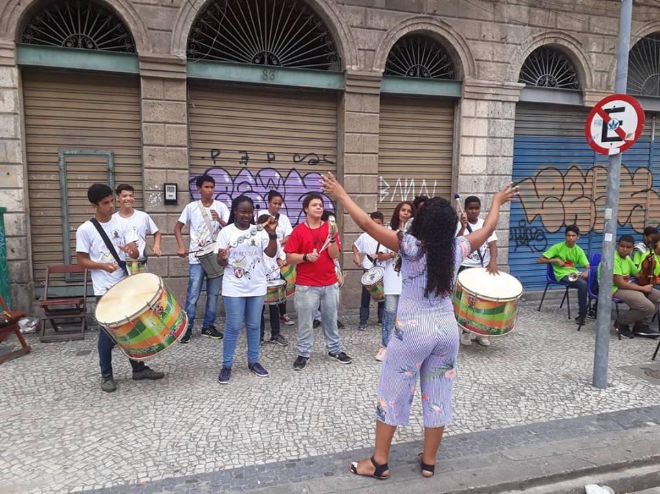 Percussão na Praça Tiradentes