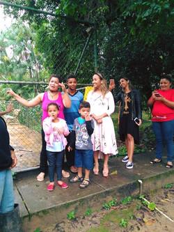 Visita da cantora Bruna Karla