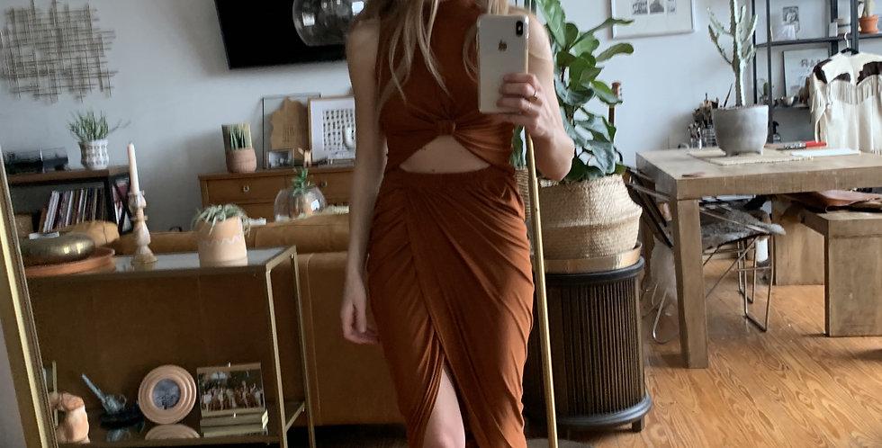 Rust skirt and top set