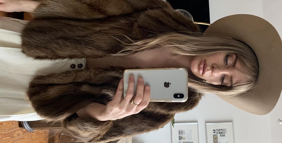 Vintage fur shrug