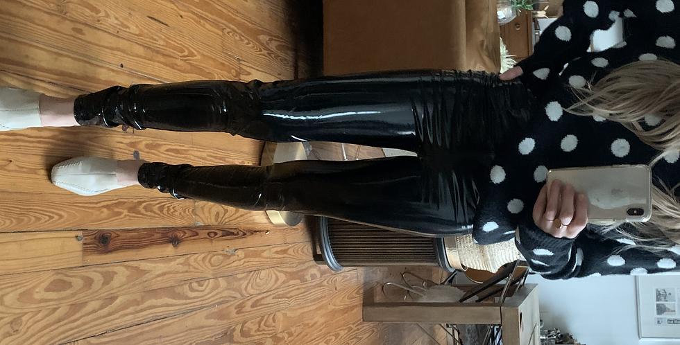 modern faux leather leggings