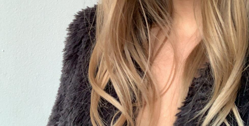 charcoal faux fur SOFT jacket