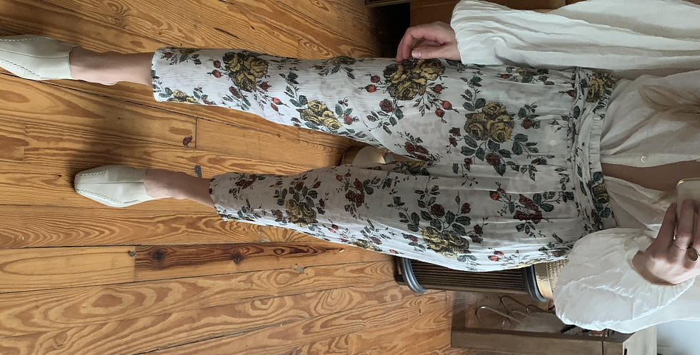 free people floral crop pants
