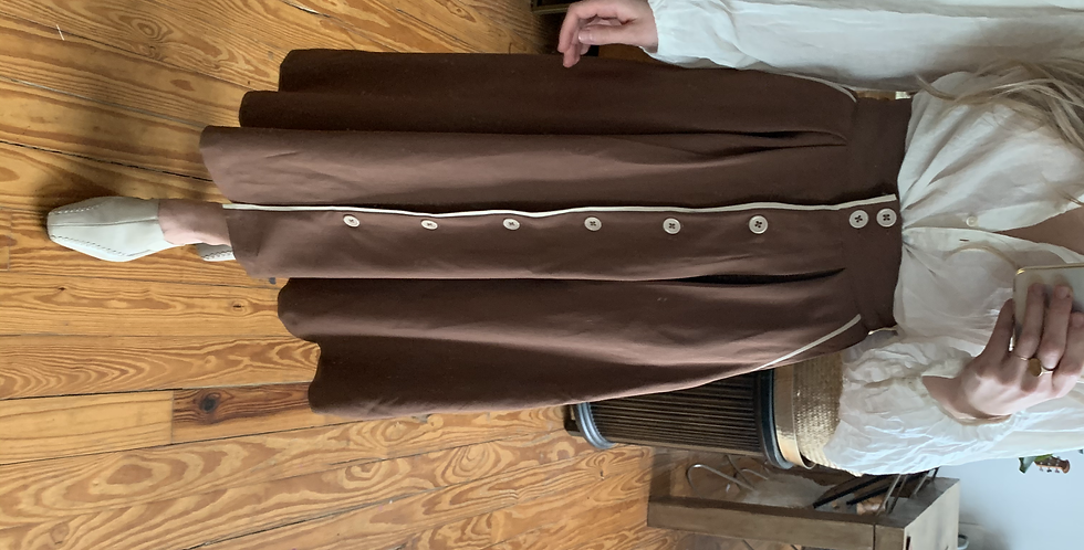 vintage skirt with piping