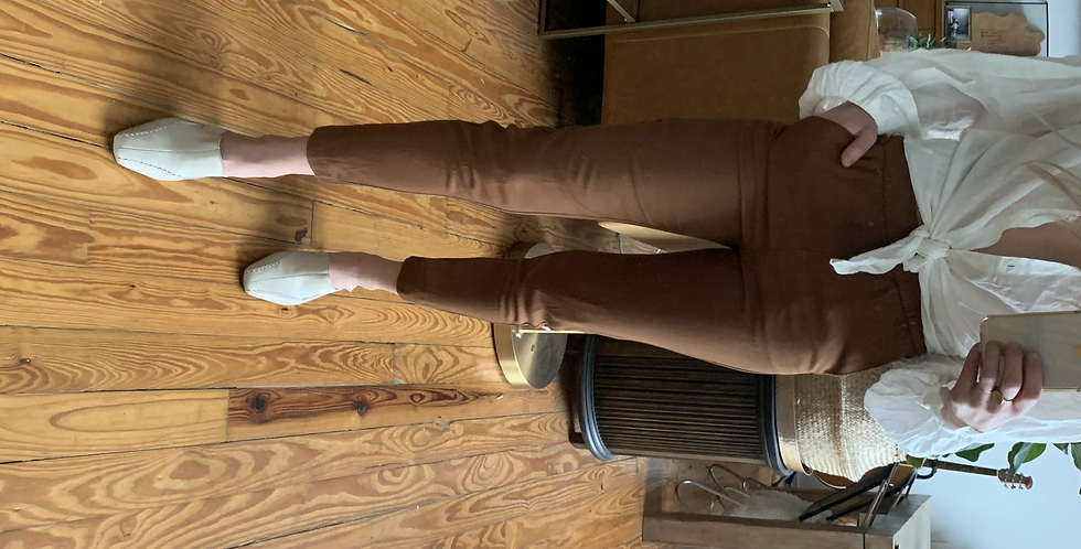 terra cotta high cropped pants