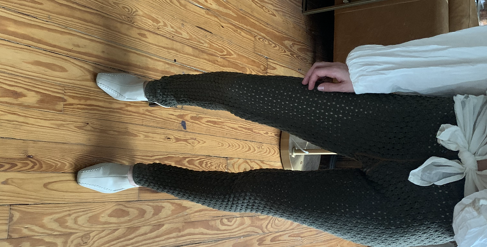 olive green knitted long johns free people