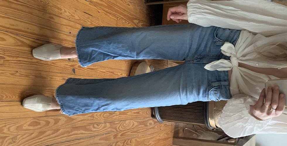 Cropped wide leg joes jeans