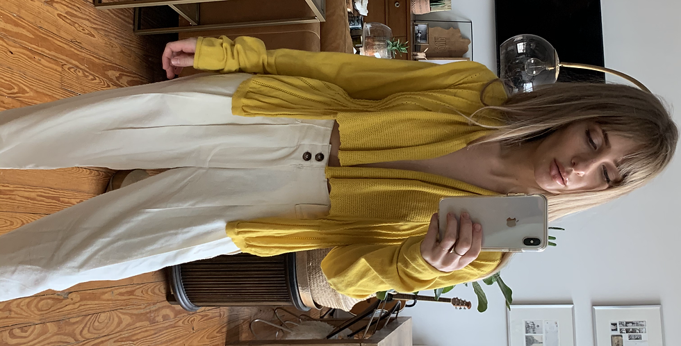 daisy Yellow cardigan